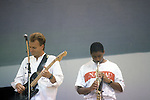 Sting with Branford Marsalis at Live Aid 1985