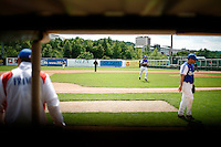 25 June 2011: Illustration of a photographic essay called Life in the dugout, during Czech Republic 11-1 win over France, at the 2011 Prague Baseball Week, in Prague, Czech Republic.