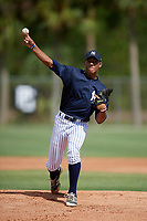 Simeon Woods-Richardson (18) while playing for Texas Scout Team Yankees based out of Houston, Texas during the WWBA World Championship at the Roger Dean Complex on October 21, 2017 in Jupiter, Florida.  Simeon Woods-Richardson (18) is a pitcher from Houston, Texas who attends Kempner High School.  (Mike Janes/Four Seam Images)