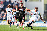 Bolton Wanderers' Callum Connolly competing with Blackburn Rovers' Ryan Nyambe <br /> <br /> Photographer Andrew Kearns/CameraSport<br /> <br /> The EFL Sky Bet Championship - Blackburn Rovers v Bolton Wanderers - Monday 22nd April 2019 - Ewood Park - Blackburn<br /> <br /> World Copyright © 2019 CameraSport. All rights reserved. 43 Linden Ave. Countesthorpe. Leicester. England. LE8 5PG - Tel: +44 (0) 116 277 4147 - admin@camerasport.com - www.camerasport.com