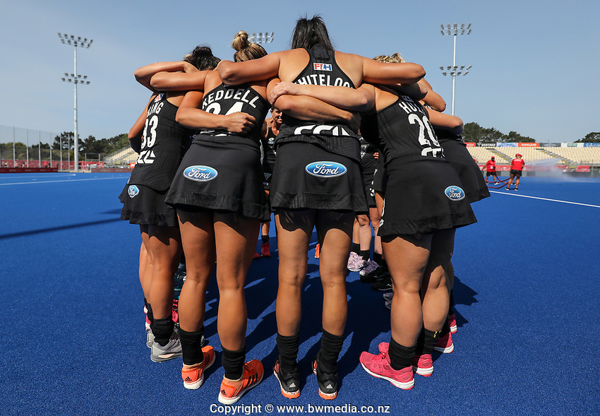 during the Pro League Hockey match between the Blacksticks Women and Belgium, National Hockey Arena, Auckland, New Zealand, 1st February 2020. Photo: Simon Watts/www.bwmedia.co.nz
