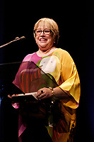Jury's President ; actress Kathy Bates announce the winners  at the Montreal World Film Festival (Festival des Films du Monde de Montreal)  2006<br /> for the Chinese movie SNOW IN THE WIND directed by Yang Yazhou.<br /> That movie also won the Special Grand Prize of the Jury<br /> Photo by Pierre Roussel / Images Distribution