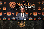 Opening Plenary Meeting of the Nelson Mandela Peace Summit<br /> <br /> Somalia