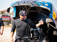Oct 20, 2019; Ennis, TX, USA; NHRA funny car driver Shawn Langdon during the Fall Nationals at the Texas Motorplex. Mandatory Credit: Mark J. Rebilas-USA TODAY Sports