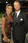 Morgan and Jeff Keppinger at the Astros Wives Gala at Minute Maid Park Thursday Aug. 06, 2009.(Dave Rossman/For the Chronicle)
