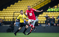 Calum Best controls the ball during the Sellebrity Soccer - Celebrity & legends football match with profits going to Watford Community sports & education trust at Vicarage Road, Watford, England on 12 May 2018. Photo by Andy Rowland.
