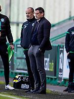 21st April 2021; Easter Road, Edinburgh, Scotland; Scottish Premiership Football, Hibernian versus Livingston; Jack Ross Hibernian Manager