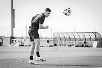 BRADENTON, FL - JANUARY 21: Aaron Herrera heads the ball during a training session at IMG Academy on January 21, 2021 in Bradenton, Florida.