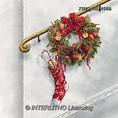 Marcello, CHRISTMAS SYMBOLS, WEIHNACHTEN SYMBOLE, NAVIDAD SÍMBOLOS, paintings+++++,ITMCXM1408A,#XX# ,Christmas stockings ,Christmas wreath