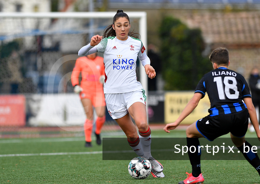 OHL's Amber Tysiak pictured during a female soccer game between Club Brugge Dames YLA and Oud Heverlee Leuven on the 8 th matchday of the 2020 - 2021 season of Belgian Scooore Womens Super League , saturday 21 th November 2020  in Knokke , Belgium . PHOTO SPORTPIX.BE   SPP   DAVID CATRY