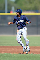 Milwaukee Brewers shortstop Jacob Gatewood (7) during an Instructional League game against the Seattle Mariners on October 4, 2014 at Peoria Stadium Training Complex in Peoria, Arizona.  (Mike Janes/Four Seam Images)