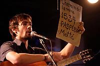 Montreal (Qc) CANADA - November 14, 2007 -<br /> Felix Sourde, Gagnant Petite Vallee 2007 , fait la premiere partie de <br /> Guillaume Arsenault  -LE RANG DES ILES, au Lion d'or.<br /> <br /> photo (c)  Images Distribution