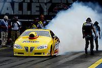 Jun. 17, 2011; Bristol, TN, USA: NHRA pro stock driver Rodger Brogdon during qualifying for the Thunder Valley Nationals at Bristol Dragway. Mandatory Credit: Mark J. Rebilas-