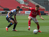 Bristol City's Jamie Paterson (right) under pressure from Sheffield Wednesday's Kieran Lee (left) <br /> <br /> Photographer David Horton/CameraSport<br /> <br /> The EFL Sky Bet Championship - Bristol City v Sheffield Wednesday - Sunday 28th June 2020 - Ashton Gate Stadium - Bristol <br /> <br /> World Copyright © 2020 CameraSport. All rights reserved. 43 Linden Ave. Countesthorpe. Leicester. England. LE8 5PG - Tel: +44 (0) 116 277 4147 - admin@camerasport.com - www.camerasport.com