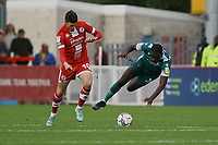 Ashley Nadesan of Crawley Town  and Enzio Boldewijn of Sutton United during Crawley Town vs Sutton United, Sky Bet EFL League 2 Football at The People's Pension Stadium on 16th October 2021