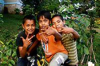 Tongan Children posing in Neiafu