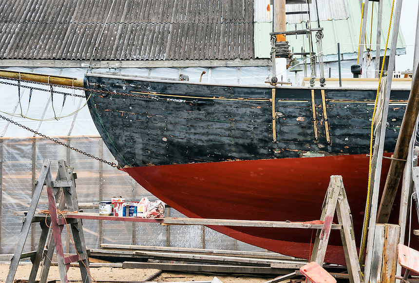 Boat building and repair, Vineyard Haven, Martha's Vineyard, Massachusetts, USA