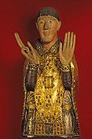 Europe/France/Auvergne/15/Cantal/Maurs: Eglise - Détail buste reliquaire de Saint Cezaire XIIIème siècle