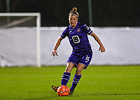 Laura Deloose (14) of Anderlecht pictured during a female soccer game between RSC Anderlecht Dames and Sporting Charleroi on the 13 th matchday of the 2020 - 2021 season of Belgian Womens Super League , friday 5 th of February 2021  in Tubize , Belgium . PHOTO SPORTPIX.BE | SPP | DAVID CATRY