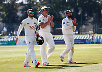 Darren Stevens (C) of Kent applauds the fans as he leaves the field during Kent CCC vs Worcestershire CCC, LV Insurance County Championship Division 3 Cricket at The Spitfire Ground on 7th September 2021