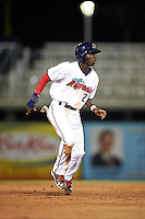 Fort Myers Miracle shortstop Nick Gordon (2) leads off second during a game against the Brevard County Manatees on April 13, 2016 at Hammond Stadium in Fort Myers, Florida.  Fort Myers defeated Brevard County 3-0.  (Mike Janes/Four Seam Images)
