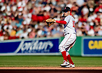 22 June 2019: Boston Red Sox second baseman Brock Holt in action during the 6th inning against the Toronto Blue Jays at Fenway :Park in Boston, MA. The Blue Jays rallied to defeat the Red Sox 8-7 in the 2nd game of their 3-game series. Mandatory Credit: Ed Wolfstein Photo *** RAW (NEF) Image File Available ***