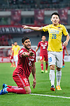 Shanghai FC Forward Givanildo Vieira De Sousa (Hulk) (L) fights for the ball with Jiangsu FC Midfielder Yang Xiaotian (R) during the AFC Champions League 2017 Round of 16 match between Shanghai SIPG FC (CHN) vs Jiangsu FC (CHN) at the Shanghai Stadium on 24 May 2017 in Shanghai, China. Photo by Marcio Rodrigo Machado / Power Sport Images