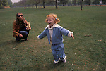 Anna Ermakowa 2003 in Hyde Park London England with her mother Angela. She is the Love Child daughter of German tennis star Boris Becker and former Russian waitress Angela Ermalowa / Ernakova after fumbled love making in a London restaurant broom cupboard