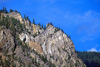Rock Formations in Cascade Mountains near Hedley, BC, Similkameen Valley, British Columbia, Canada