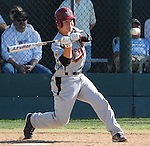 JSerra Catholic  High School batter has eyes on the ball in a game against Servite High School.