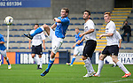 Raith Rovers v St Johnstone...12.07.14  Pre-Season Friendly<br /> Chris Kane attempts to hook the ball in the net<br /> Picture by Graeme Hart.<br /> Copyright Perthshire Picture Agency<br /> Tel: 01738 623350  Mobile: 07990 594431