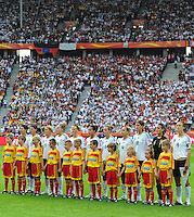 Starting eleven of team Germany during the FIFA Women's World Cup at the FIFA Stadium in Berlin, Germany on June 26th, 2011.
