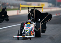 Sep 4, 2020; Clermont, Indiana, United States; NHRA top alcohol dragster driver Will Smith during qualifying for the US Nationals at Lucas Oil Raceway. Mandatory Credit: Mark J. Rebilas-USA TODAY Sports