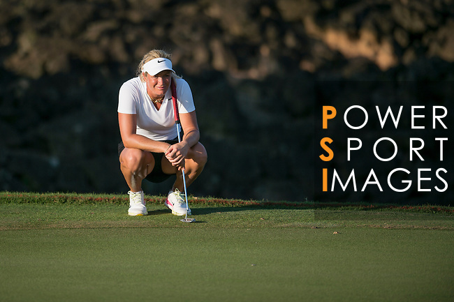 Suzann Pettersen plays during the World Celebrity Pro-Am 2016 Mission Hills China Golf Tournament on 22 October 2016, in Haikou, China. Photo by Marcio Machado / Power Sport Images