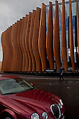 Moscow, Russia<br /> September 20, 2009<br /> <br /> The exterior of the Barviha Luxury Village theater, a new structure by Russian Architect Yuri Grigoryan.