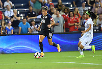 Kansas City, KS. - July 22, 2016: The U.S. Women's National team go up 2-0 over Costa Rica in first half play during a friendly match in preparation for the Olympics at Children's Mercy Park.