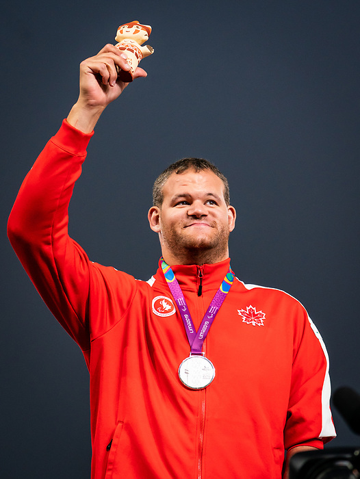 Gregory Stewart, Lima 2019 - Para Athletics // Para-athlétisme.<br /> Gregory Stewart takes the silver in men's shot put F46. // Gregory Stewart remporte la médaille d'argent au lancer du poids masculin F46. 25/08/2019.