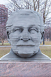 Arthur Fiedler statue on the Charles River Esplanade, Boston, Massachusetts, USA