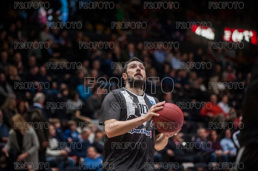 VALENCIA, SPAIN - JANUARY 6: Georgios Dedas during EUROCUP match between Valencia Basket and PAOK Thessaloniki at Fonteta Stadium on January 6, 2015 in Valencia, Spain