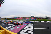 Monster Energy NASCAR Cup Series<br /> Bank of America 500<br /> Charlotte Motor Speedway, Concord, NC<br /> Sunday 8 October 2017<br /> Martin Truex Jr, Furniture Row Racing, Auto-Owners Insurance Toyota Camry and Denny Hamlin, Joe Gibbs Racing, FedEx Office Toyota Camry restart<br /> World Copyright: Russell LaBounty<br /> LAT Images