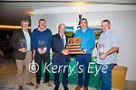 The Charlie Chaplin Am-Am concluded on Saturday evening with Captain of Waterville Golf Club Seamus Kelly presenting the coveted first prize to Team Captain Sean O'Shea also pictured  l-r; Albert Prendiville , Eoin Ryan & Paul Corcoran.