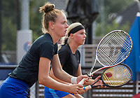 Amstelveen, Netherlands, 7 Juli, 2021, National Tennis Center, NTC, Amstelveen Womans Open, Doubles: Eva Vedder (NED) and Stephanie Judith Visscher (NED) (L)<br /> Photo: Henk Koster/tennisimages.com