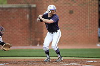 Austen Zente (5) of the High Point Panthers at bat against the North Carolina Central Eagles at Williard Stadium on February 28, 2017 in High Point, North Carolina. The Eagles defeated the Panthers 11-5. (Brian Westerholt/Four Seam Images)