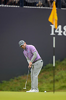 190719 | The 148th Open - Day 2<br /> <br /> Branden Grace of South Africa n the 18th green during the 148th Open Championship at Royal Portrush Golf Club, County Antrim, Northern Ireland. Photo by John Dickson - DICKSONDIGITAL
