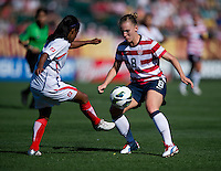 Amy Rodriguez, Diana Saenz.  The USWNT defeated Costa Rica, 8-0, during a friendly match at Sahlen's Stadium in Rochester, NY.