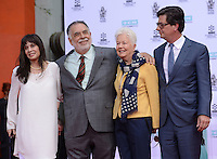 Francis Ford Coppola + wife Eleanor + son Roman Coppola + sister Talia Shire @ his Hand & Foot Print ceremony held @the TCL Chinese theatre.<br /> April 29, 2016