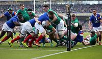 Sunday10th March 2019 | Ireland vs France<br /> <br /> Rory Best scores during the Guinness 6 Nations clash between Ireland and France at the Aviva Stadium, Lansdowne Road, Dublin, Ireland. Photo by John Dickson / DICKSONDIGITAL