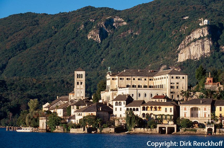 Italien, Piemont, Isola di San Giulio im Orta-See