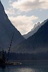 Italy, South Tyrol, Alto Adige, Dolomites, near Dobbiaco, Lago di Dobbiaco, Lake Dobbiaco, at Valle di Landro
