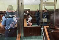 """Am Donnerstag den 7. April 2016 begann vor dem 1. Strafsenat des Berliner Kammergerichts die Hauptverhandlung gegen den 30-jaehrigen Gadzhimurad K. wegen des Verdachts der Werbung fuer die Terrororganisation """"Islamischer Staat"""" (IS). Dem Angeklagten wird ferner die Billigung von Straftaten durch den IS vorgeworfen.<br /> Der Angeklagte, ein Berliner Imam, soll im November 2014 im Internet ein von ihm selbst erstelltes Video mit dem Titel """"Haerte im Jihad"""" veroeffentlicht haben, in dem er der Terrororganisation IS huldige und in Form einer Predigt für die Teilnahme am bewaffneten Kampf des IS werbe. Weiter soll er im Mai 2015 in einem Interview die Toetung eines gefangenen jordanischen Piloten und eines in Syrien entfuehrten US-amerikanischen Journalisten durch den IS religioes gerechtfertigt und gebilligt haben.<br /> Gadzhimurad K. soll eine enge Kontaktperson der Mitglieder eines Berliner Moscheevereins, Ismet D. und Emin F., sein, gegen die bereits seit dem 8. Januar 2016 vor dem Kammergericht wegen des Verdachts der Unterstuetzung einer auslaendischen terroristischen Vereinigung verhandelt wird.<br /> Im Bild: Der Angeklagte.<br /> 7.4.2016, Berlin<br /> Copyright: Christian-Ditsch.de<br /> [Inhaltsveraendernde Manipulation des Fotos nur nach ausdruecklicher Genehmigung des Fotografen. Vereinbarungen ueber Abtretung von Persoenlichkeitsrechten/Model Release der abgebildeten Person/Personen liegen nicht vor. NO MODEL RELEASE! Nur fuer Redaktionelle Zwecke. Don't publish without copyright Christian-Ditsch.de, Veroeffentlichung nur mit Fotografennennung, sowie gegen Honorar, MwSt. und Beleg. Konto: I N G - D i B a, IBAN DE58500105175400192269, BIC INGDDEFFXXX, Kontakt: post@christian-ditsch.de<br /> Bei der Bearbeitung der Dateiinformationen darf die Urheberkennzeichnung in den EXIF- und  IPTC-Daten nicht entfernt werden, diese sind in digitalen Medien nach §95c UrhG rechtlich geschuetzt. Der Urhebervermerk wird gemaess §13 UrhG verlangt.]"""